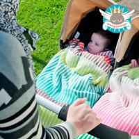 Weegoamigo Knitted Bamboo Baby Blanket - Frankie Stripe