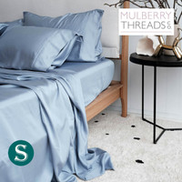 Bamboo Sateen Sheet Set by Mulberry Threads Co. - Chambray