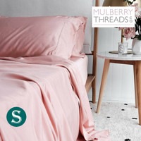 Bamboo Sateen Sheet Set by Mulberry Threads Co. - Rose