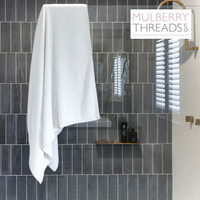 Bamboo Bath Sheet by Mulberry Threads Co. - White