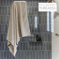 Bamboo Bath Sheet by Mulberry Threads Co. - Stone
