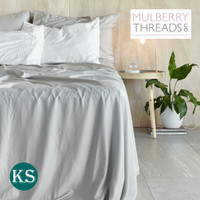 Bamboo Sateen Sheet Set by Mulberry Threads Co. - Platinum