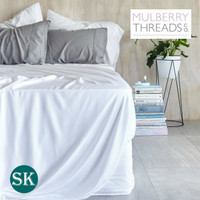 Sateen Sheet Set by Mulberry Threads Co. - White