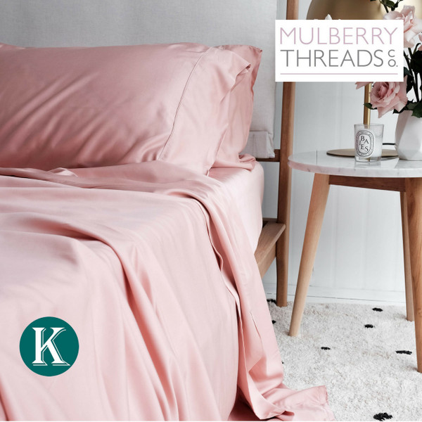 Sateen Sheet Set by Mulberry Threads Co. - Rose
