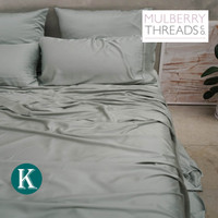 Sateen Sheet Set by Mulberry Threads Co. - Sage