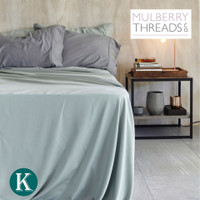 Bamboo Sateen Sheet Set by Mulberry Threads Co. - Frost