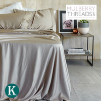 Sateen Sheet Set by Mulberry Threads Co. - Taupe