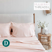 Bamboo Sateen Sheet Set by Mulberry Threads Co. - Blush