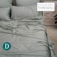 Bamboo Sateen Sheet Set by Mulberry Threads Co. - Sage
