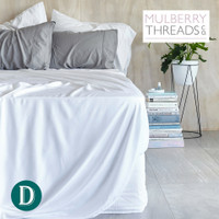 Bamboo Sateen Sheet Set by Mulberry Threads Co. - White