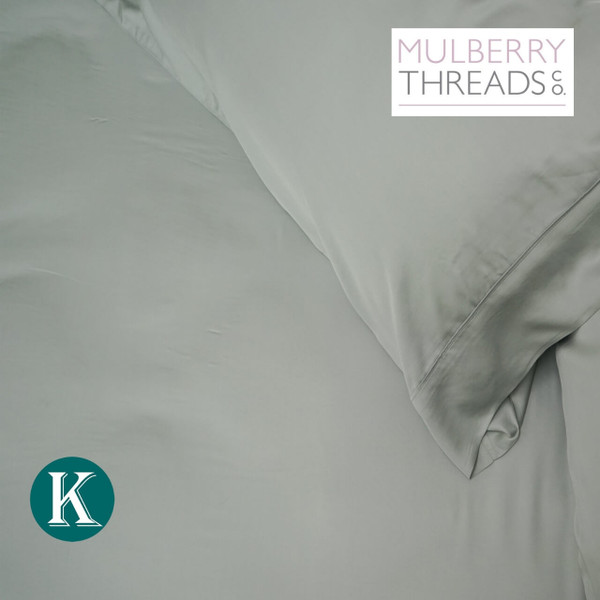 Fitted Sheet - King - Bamboo Sateen by Mulberry Threads Co. - Sage
