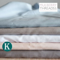 Fitted Sheet - King - Bamboo Sateen by Mulberry Threads Co.