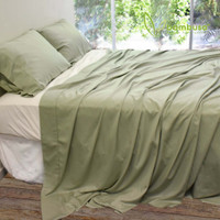 Bamboo Twill Sheet Set by Bambusa - Green Tea