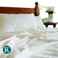 Bamboo Twill Sheet Set by Bambusa - White
