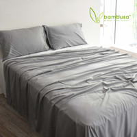 Bamboo Twill Sheet Set by Bambusa - Pewter
