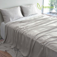 Bamboo Twill Sheet Set by Bambusa - Silver