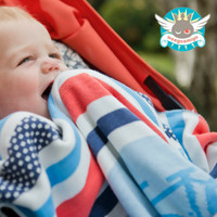 Weegoamigo Knitted Bamboo Baby Blanket - Cycle Stripe
