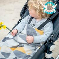 Weegoamigo Knitted Bamboo Baby Blanket - Geo Charcoal