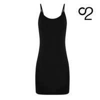 Bamboo Camisole Slip Dress - Black