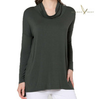 Women's Bamboo Rowena Cowl Tunic - Forest