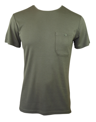 Men's Bamboo T-shirt (With Pocket) - Olive