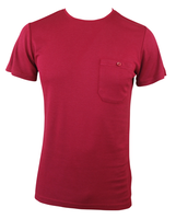 Men's Bamboo T-shirt (With Pocket) - Burnt Red