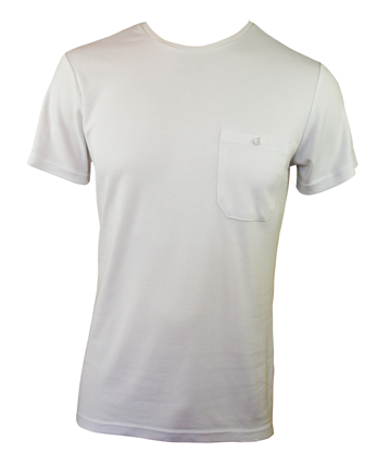 Men's Bamboo T-shirt (With Pocket) - White
