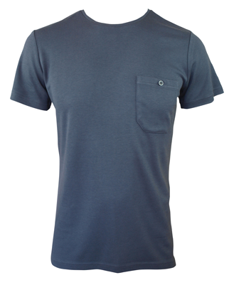 Men's Bamboo T-shirt (With Pocket) - Slate