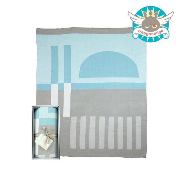 Weegoamigo Knitted Bamboo Baby Blanket - Horizon