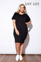 Bamboo Rita Tie Dress - Black