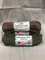 Atwood Rope Mfg. 550 Paracord 100ft (Earth Colors Assorted)