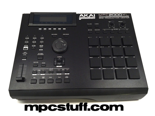 Black MPC 2000XL Faceplate Skin