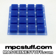 NI Maschine MK1 / MK2 / Studio Thick Fat Pads - Clear Blue ( Native Instruments )