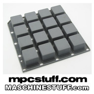 NI Maschine MK1 / MK2 / Studio Thick Fat Pads - Grey MPC Style ( Native Instruments )