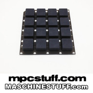 NI Maschine MK1 / MK2 / Studio Thick Fat Pads - Smoke Black ( Native Instruments ) - B STOCK