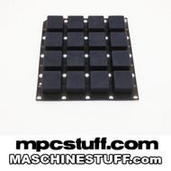 NI Maschine MK1 / MK2 / Studio Thick Fat Pads - Smoke Black ( Native Instruments )