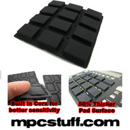 Akai MPC 500 / MPK Sensitive Thick Fat Pad Set ( Black )