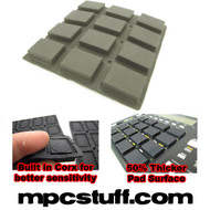 Akai MPC 500 / MPK Sensitive Thick Fat Pad Set ( Dark Grey )