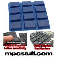 Akai MPC 500 / MPK Sensitive Thick Fat Pad Set ( Blue )