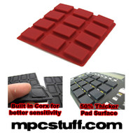 Akai MPC 500 / MPK Sensitive Thick Fat Pad Set ( Red )