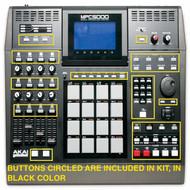 MPC 5000 Black Replacement Button Set Kit