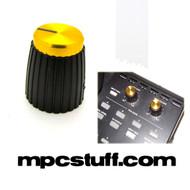 Gold Top Black Knob for Akai MPC , MPD , MPK , Maschine