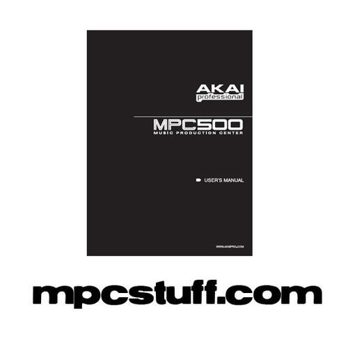 mpc 500 owners manual mpcstuff akai mpc parts accessories rh mpcstuff com mpc user guide mpc 2500 user manual