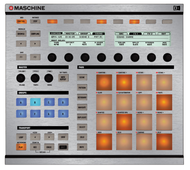 Native Instruments Maschine MK1 / MK2 Faceplate Skin - Brushed Silver