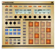 Native Instruments Maschine MK1 / MK2 Faceplate Skin - Brushed Gold