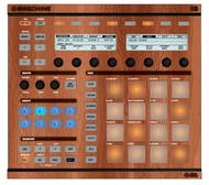 Native Instruments Maschine MK1 / MK2 Faceplate Skin - Wood Look