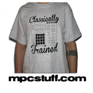 "Akai MPC "" Classically Trained "" T - Shirt ( Grey )"