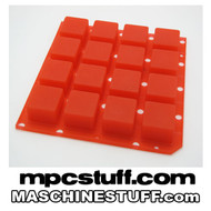NI Maschine MK1 / MK2 / Studio Thick Fat Pads - Clear Red ( Native Instruments ) Imperfect