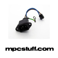 Akai MPC 2000 / 2000XL / 4000 Power Cord Input with wires (Used)