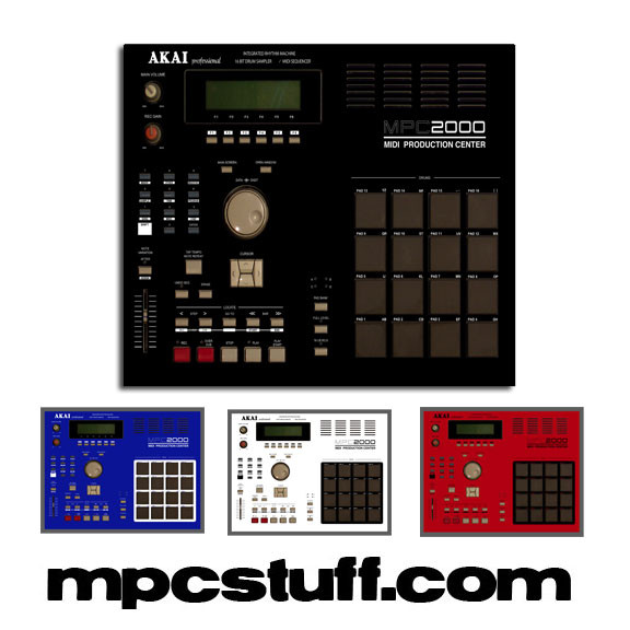 Akai Mpc 2000 Color Faceplate Skin Choose Color Red Black White Blue